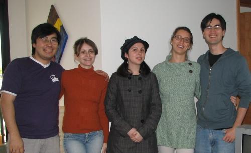Jonny, Amanda, Dani, Paula e Carlos